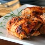 crispy-rosemary sriracha chicken thighs